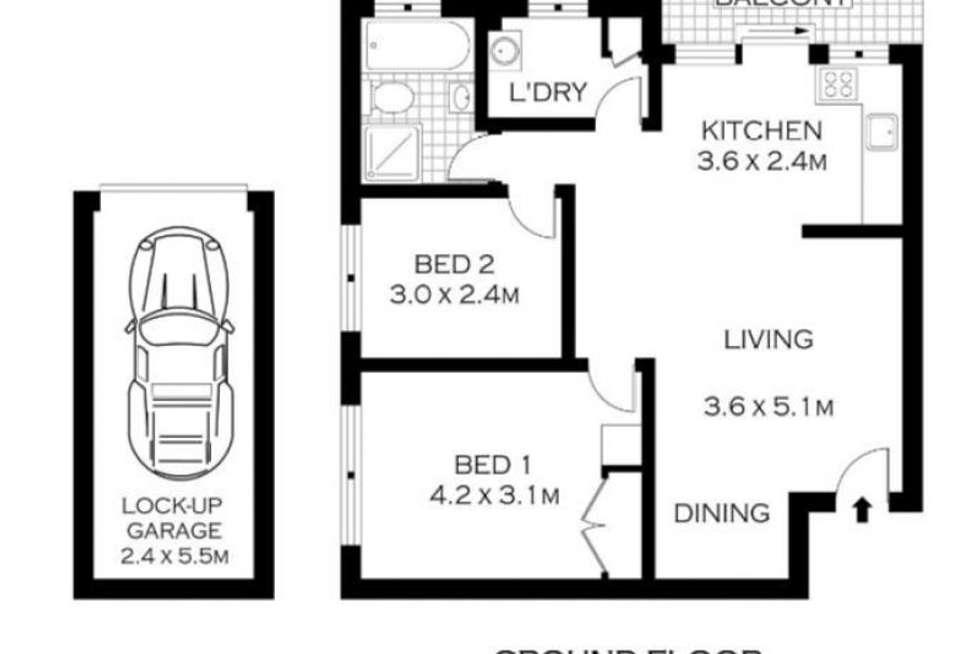 Floorplan of Homely unit listing, 1/12-14 Mary Street, Lidcombe NSW 2141