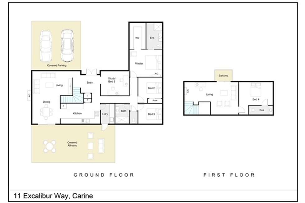 Floorplan of Homely house listing, 11 Excalibur Way, Carine WA 6020