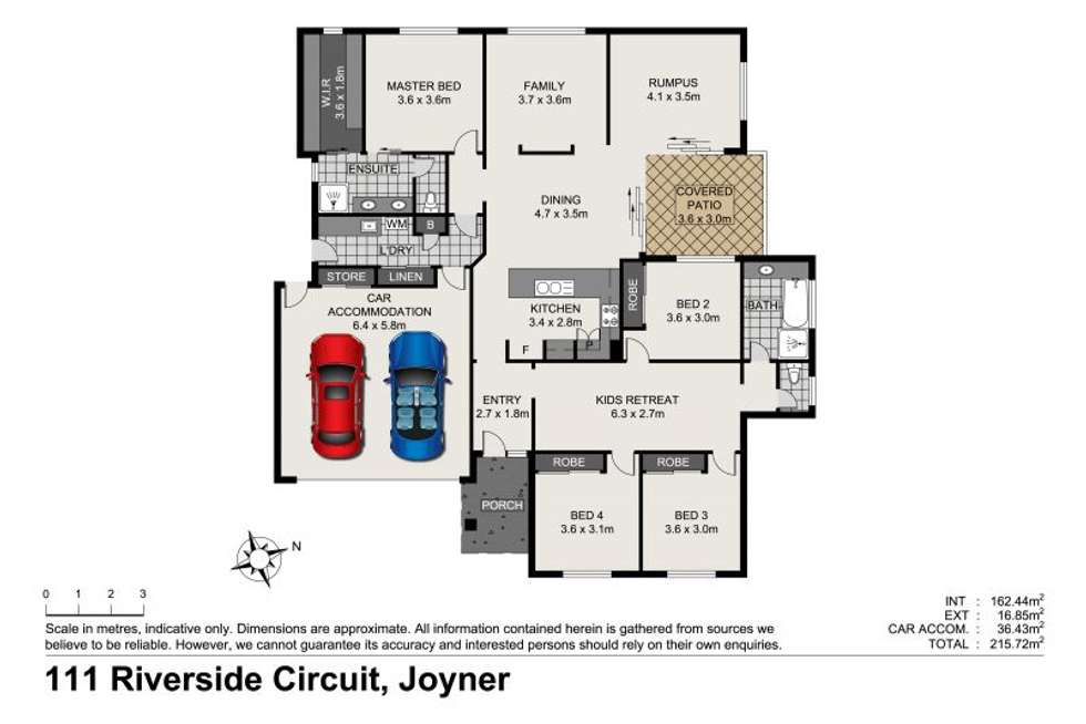Floorplan of Homely house listing, 111 Riverside Circuit, Joyner QLD 4500