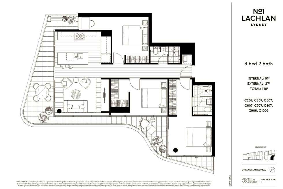 Floorplan of Homely apartment listing, 707C/2 Sam Sing Street, Waterloo NSW 2017