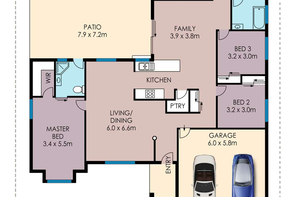 Floorplan of Homely house listing, 21 Woodbine Drive, Annandale QLD 4814