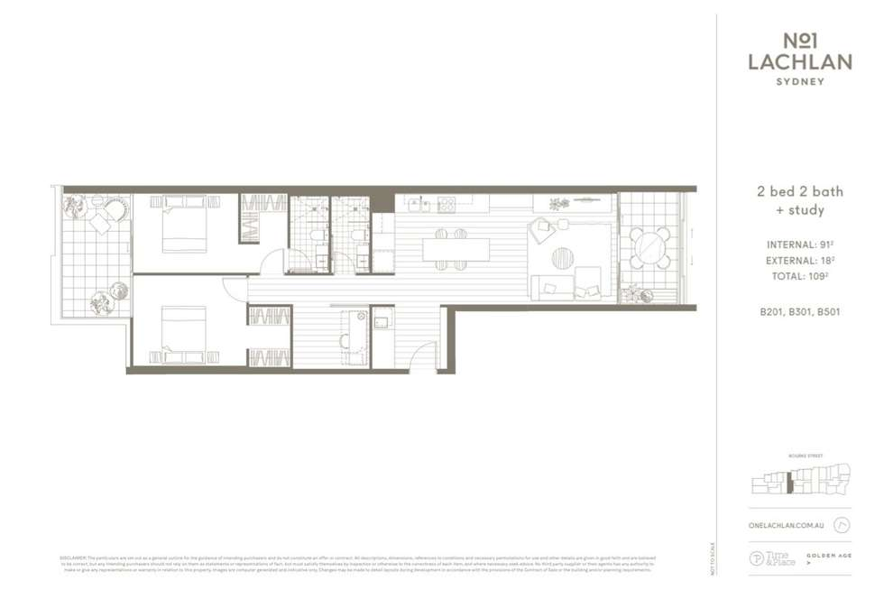 Floorplan of Homely apartment listing, 201/6 Thread Lane, Waterloo NSW 2017