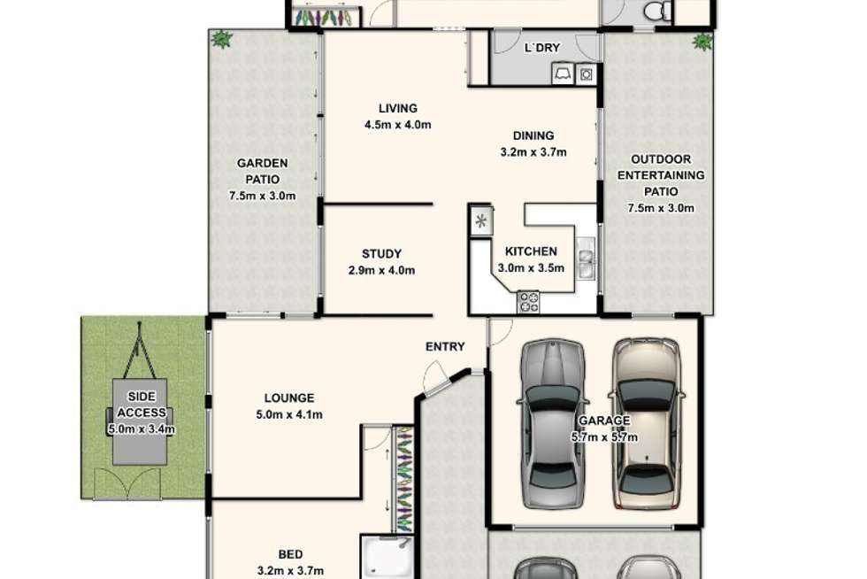 Floorplan of Homely house listing, 36 Trevally Cresent, Manly West QLD 4179