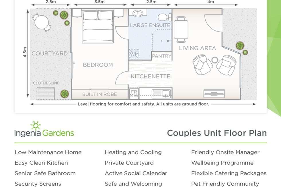 Floorplan of Homely retirement listing, 60069B/26 Beverin Street, Sebastopol VIC 3356