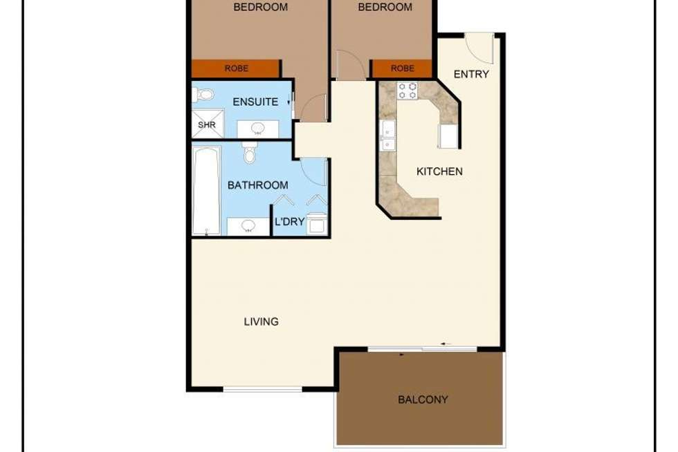 Floorplan of Homely apartment listing, 11/18 The Strand, North Ward QLD 4810