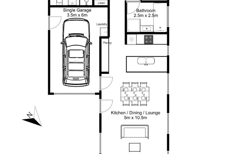 Floorplan of Homely unit listing, 1/5 Cadorna Street, Mowbray TAS 7248