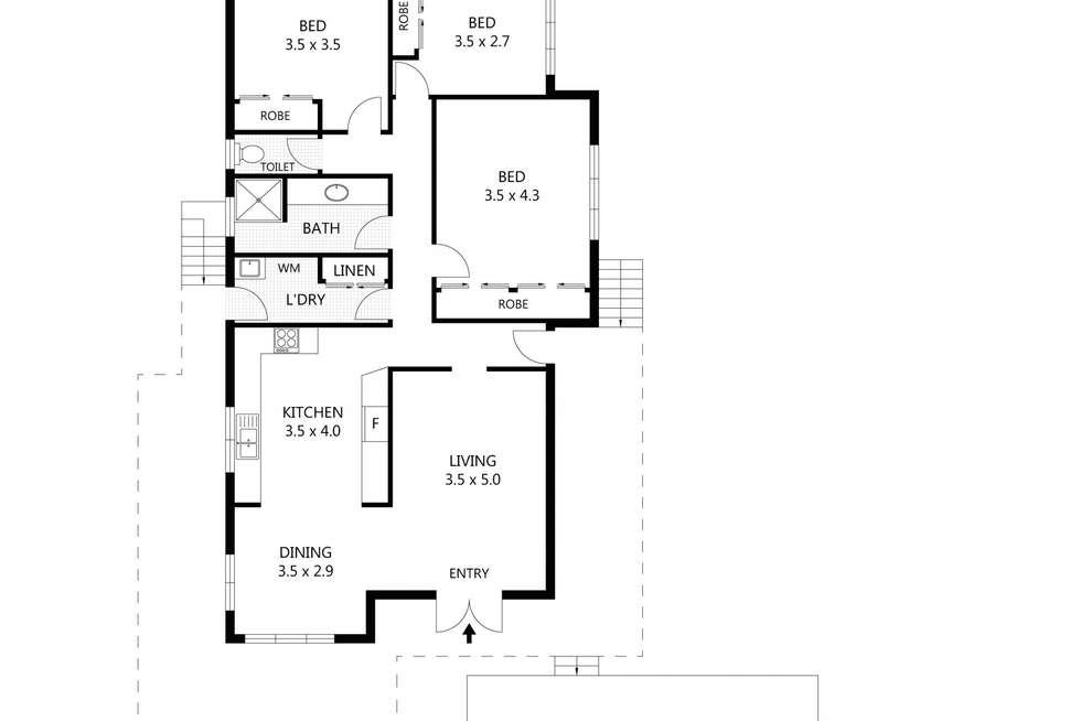 Floorplan of Homely house listing, 14 Cameron Street, Railway Estate QLD 4810
