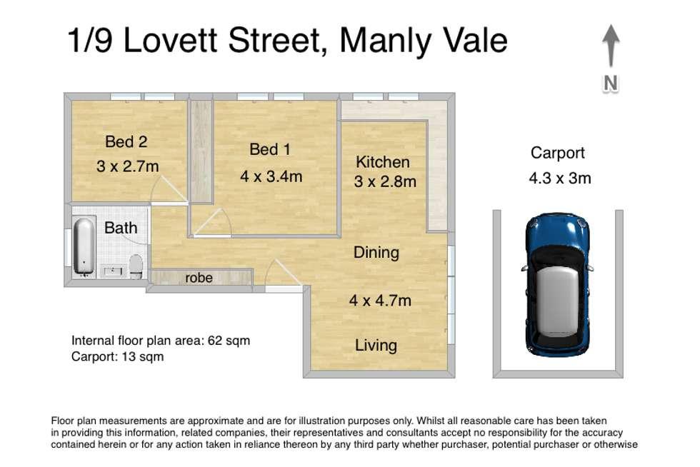 Floorplan of Homely unit listing, 1/9 Lovett Street, Manly Vale NSW 2093