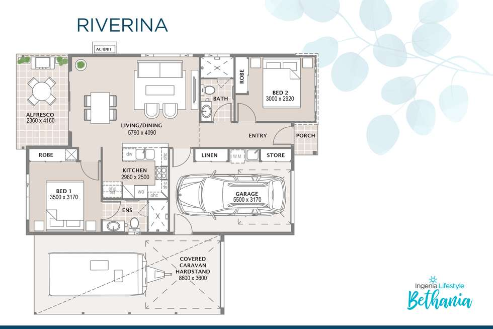 Floorplan of Homely retirement listing, 183/41 Radke Road, Bethania QLD 4205