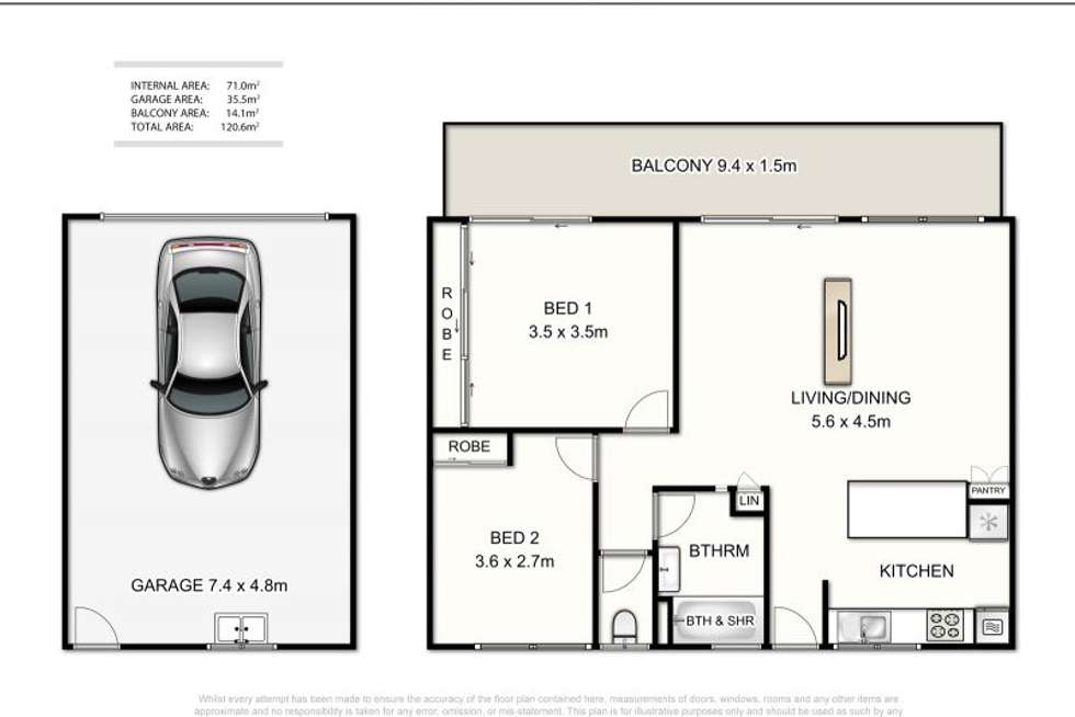 Floorplan of Homely apartment listing, 5/54 Peach Street, Greenslopes QLD 4120