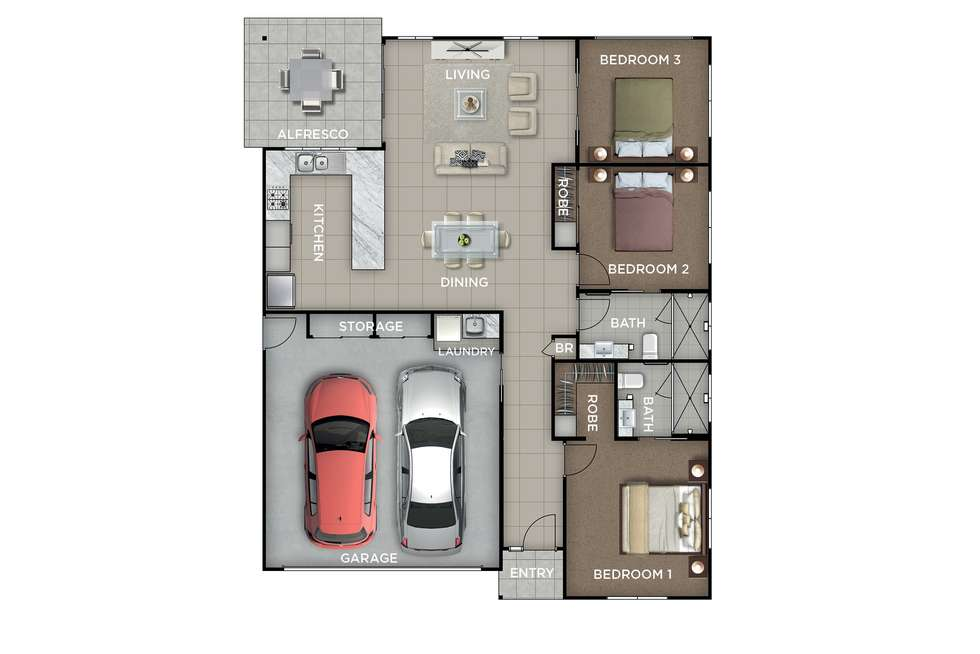 Floorplan of Homely retirement listing, 114/41 Radke Road, Bethania QLD 4205