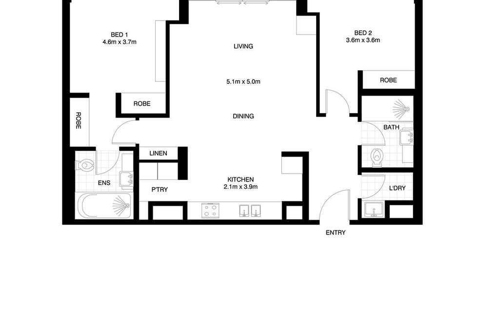 Floorplan of Homely apartment listing, 1509/81 Macleay Street, Potts Point NSW 2011