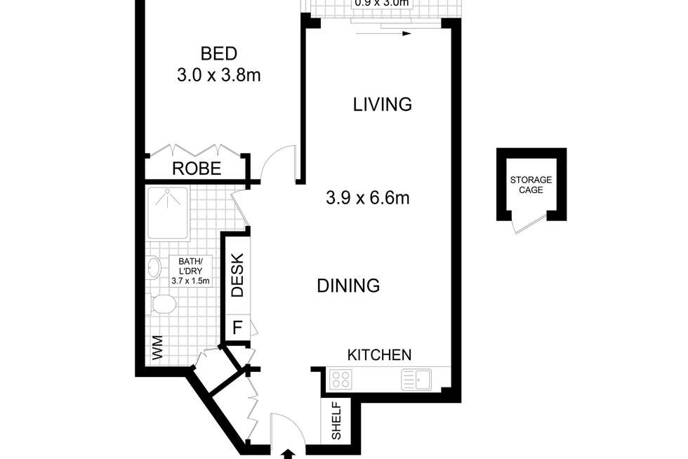 Floorplan of Homely apartment listing, 12/103 Victoria Street, Potts Point NSW 2011