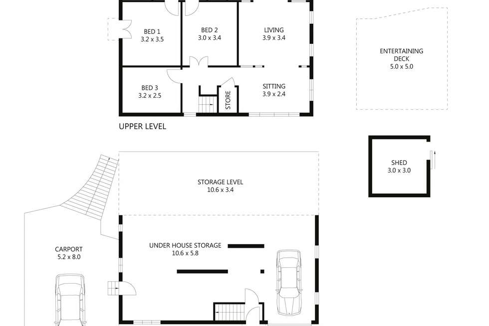 Floorplan of Homely house listing, 9 McClelland Street, West End QLD 4810