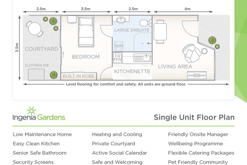 Floorplan of Homely retirement listing, 60028E/52 Chatsbury Street, Goulburn NSW 2580