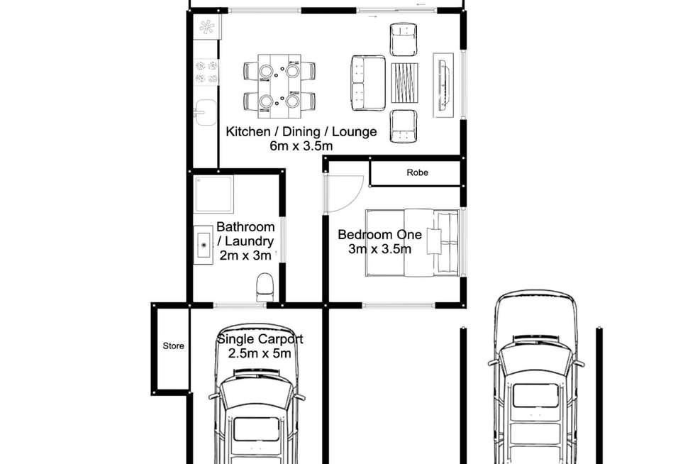 Floorplan of Homely unit listing, 1/3 Rankine Street, Riverside TAS 7250