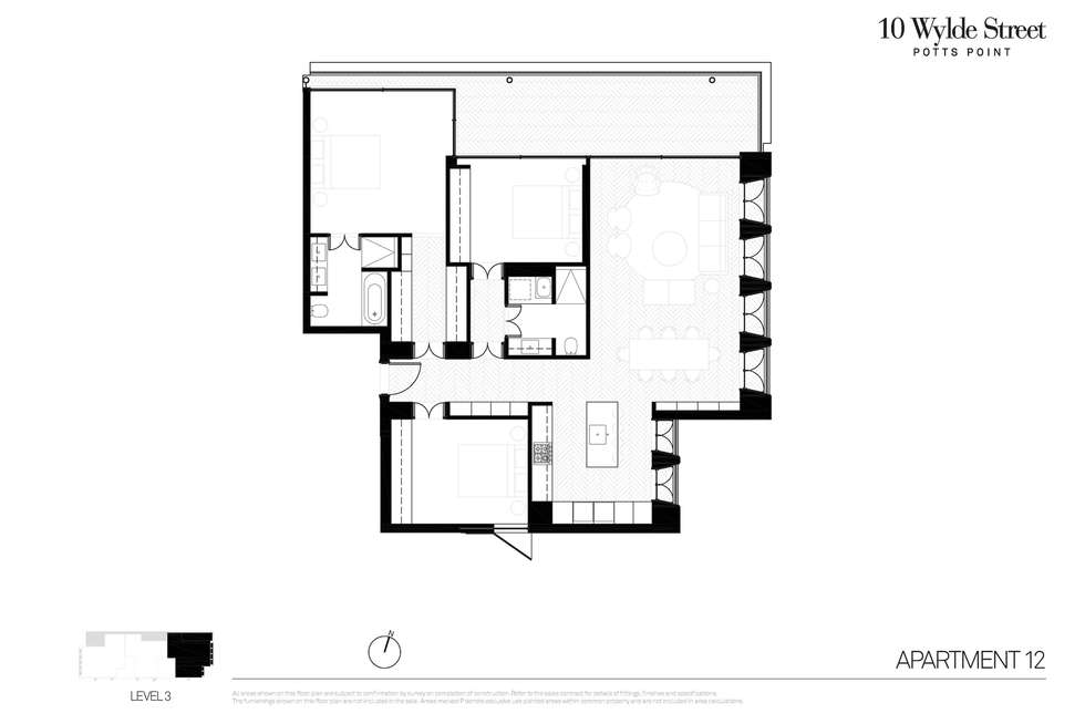 Floorplan of Homely apartment listing, 12/10 Wylde Street, Potts Point NSW 2011