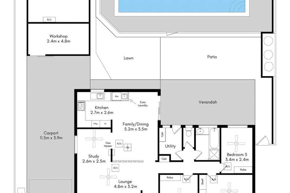 Floorplan of Homely house listing, 103 Taylors Avenue, Morphett Vale SA 5162