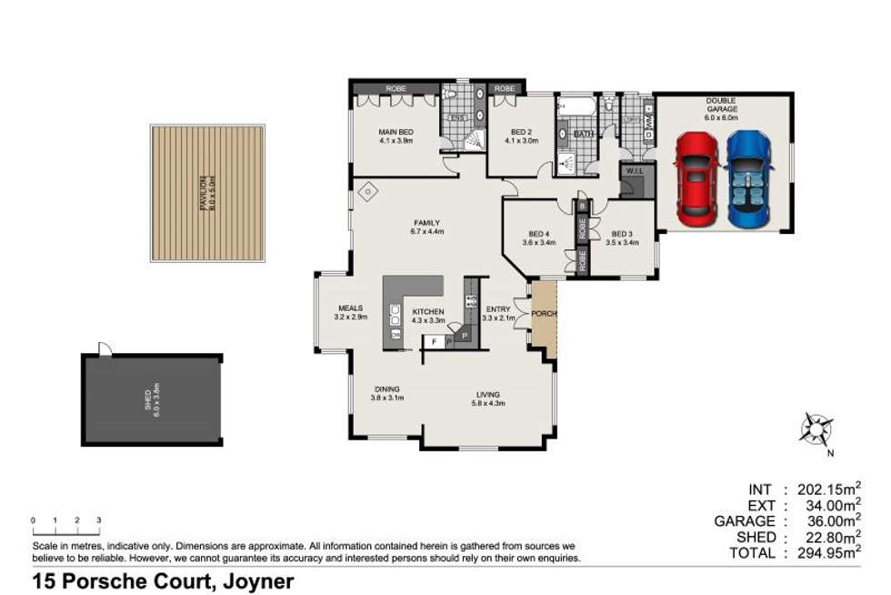 Floorplan of Homely house listing, 15 Porsche Court, Joyner QLD 4500