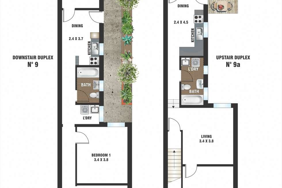 Floorplan of Homely house listing, 9-9A Hughes Street, Potts Point NSW 2011