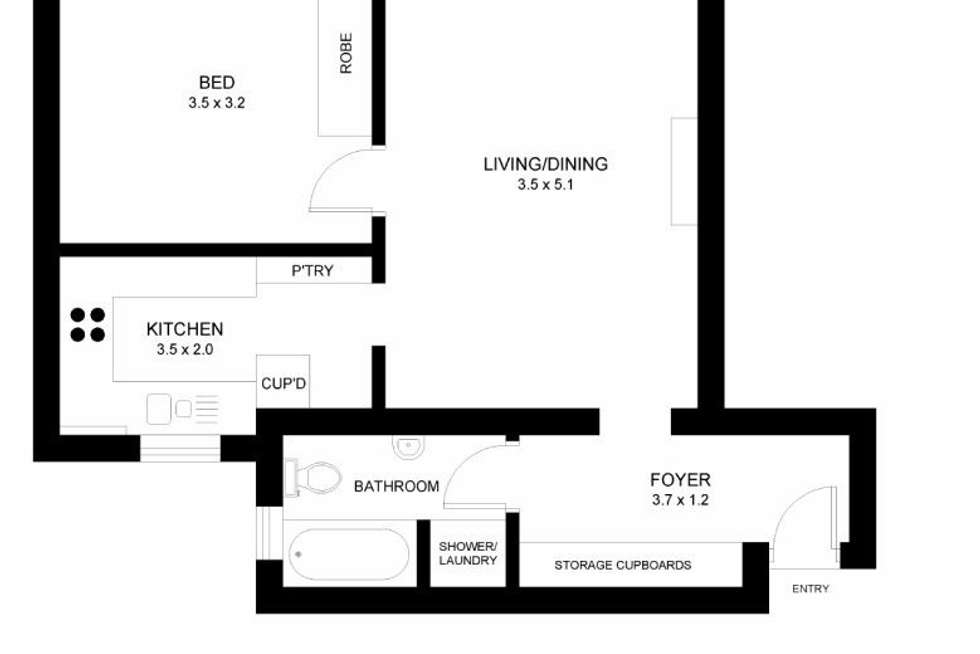 Floorplan of Homely apartment listing, 47/20 Macleay Street, Potts Point NSW 2011