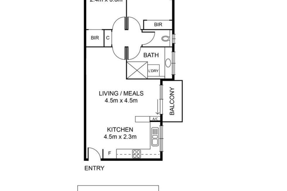 Floorplan of Homely apartment listing, 7/251 Nicholson Street, Seddon VIC 3011