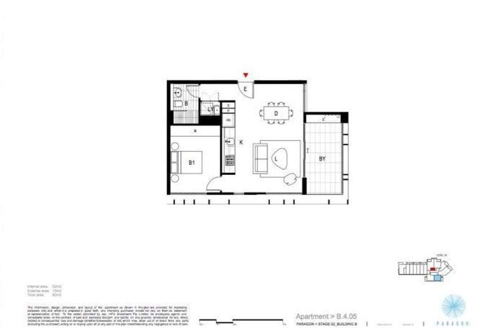 Floorplan of Homely apartment listing, 405/1 Link Rd, Zetland NSW 2017