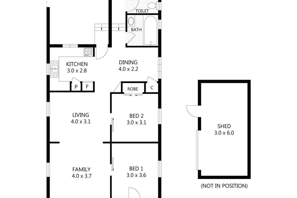 Floorplan of Homely house listing, 33 Estate Street, West End QLD 4810