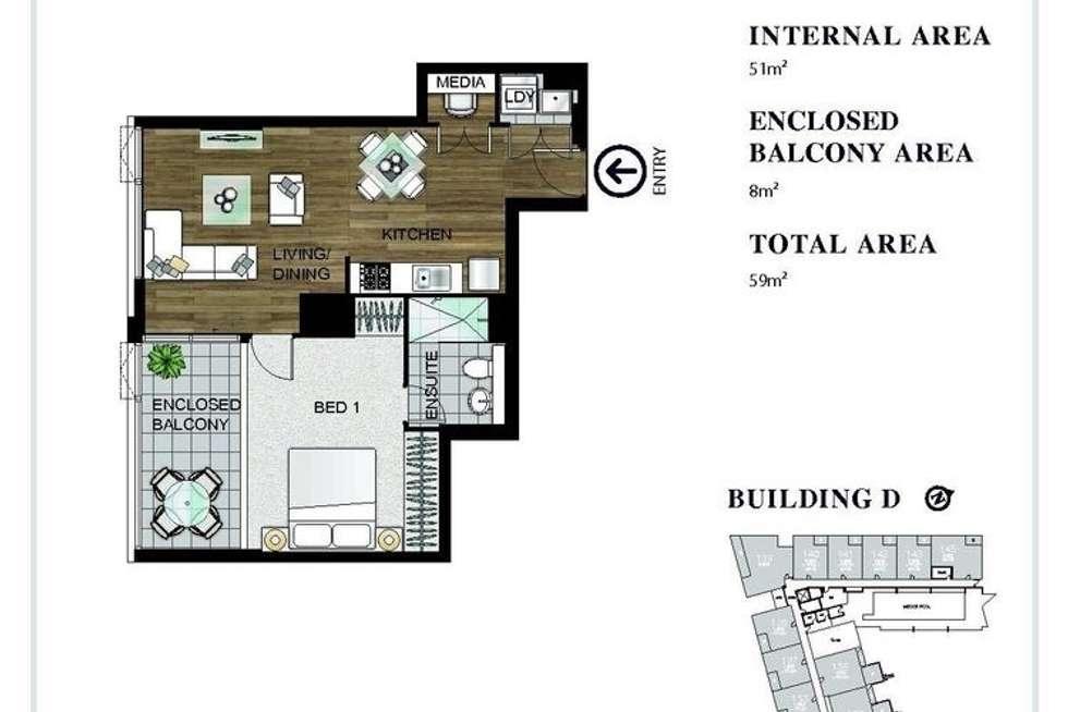 Floorplan of Homely apartment listing, 352/92 Epsom Road, Zetland NSW 2017