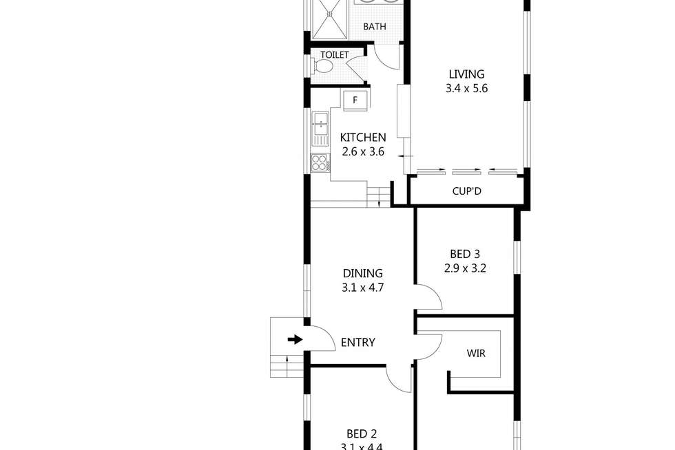 Floorplan of Homely house listing, 16 Estate Street, West End QLD 4810