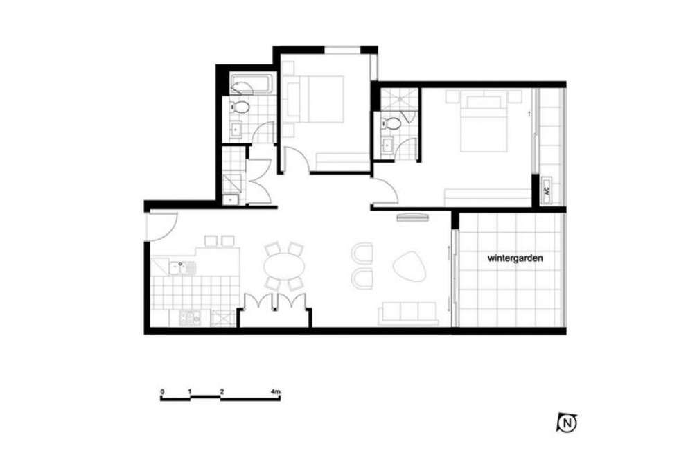Floorplan of Homely apartment listing, 408/53 Hills Road, Wentworth Point NSW 2127