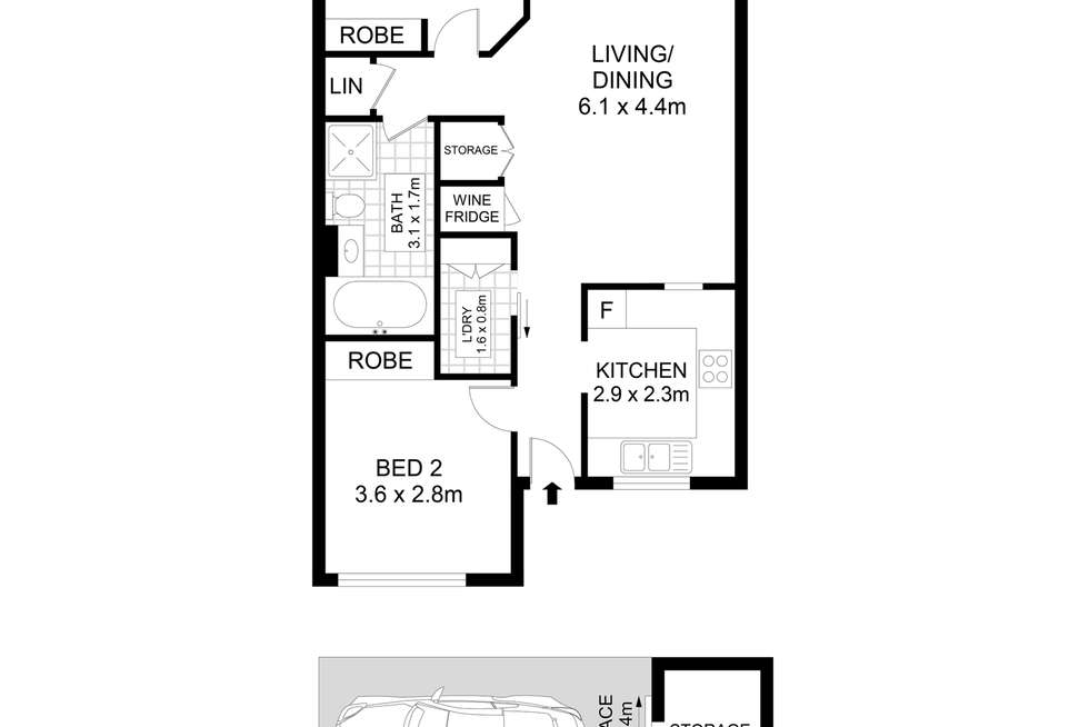 Floorplan of Homely apartment listing, 46/71 Victoria Street, Potts Point NSW 2011