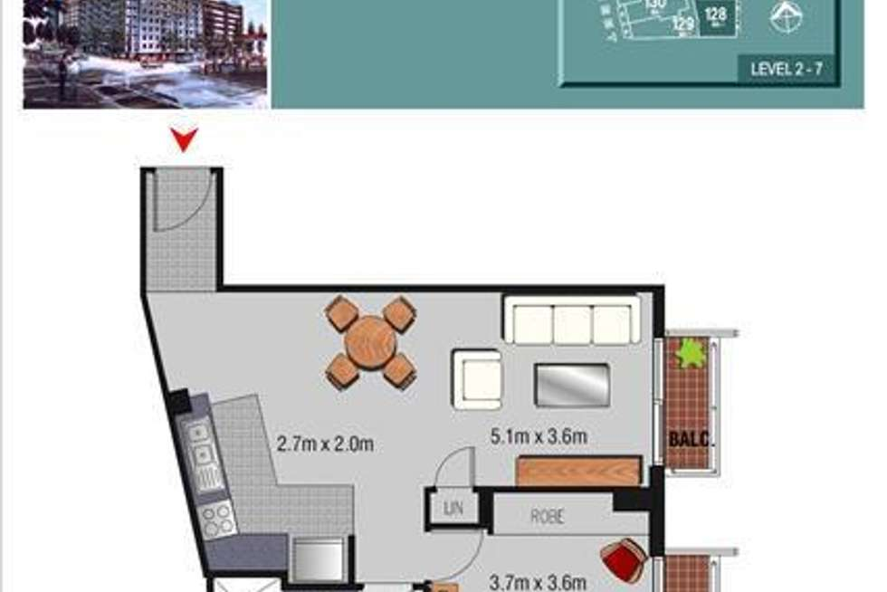 Floorplan of Homely apartment listing, 160/298 Sussex Street, Sydney NSW 2000