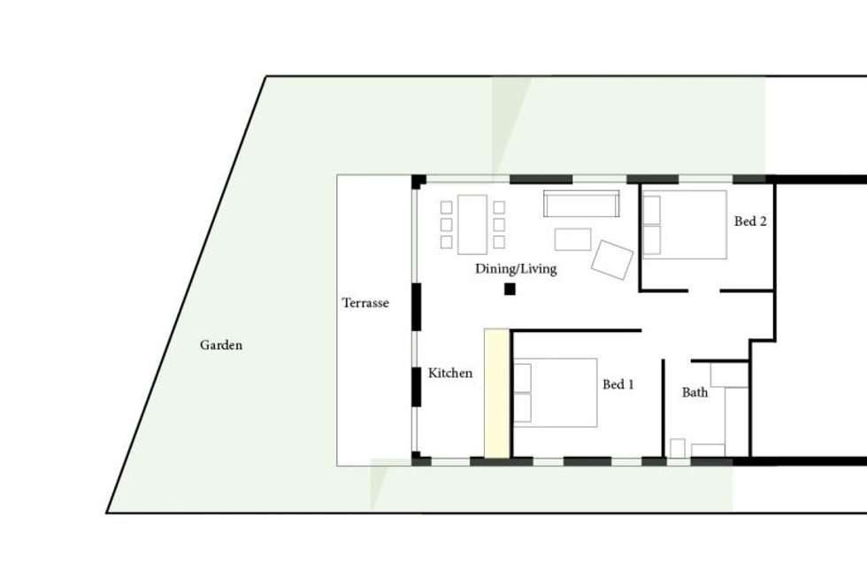 Floorplan of Homely apartment listing, 1A/16 Derby St, Vaucluse NSW 2030