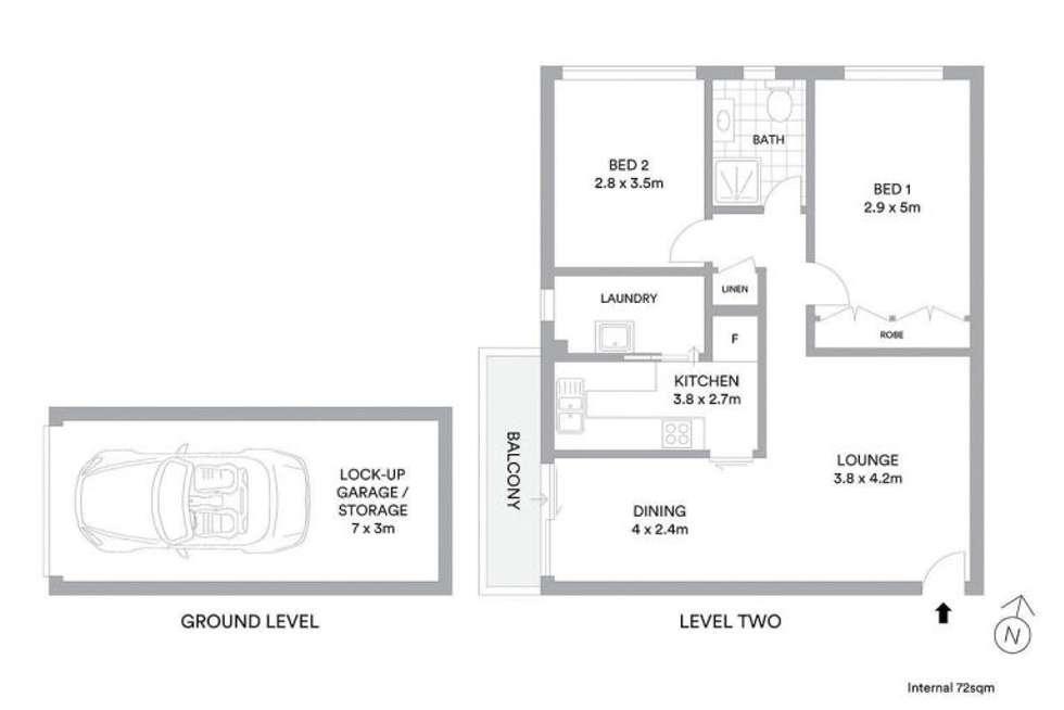 Floorplan of Homely apartment listing, 7/52 Bridge Street, Epping NSW 2121