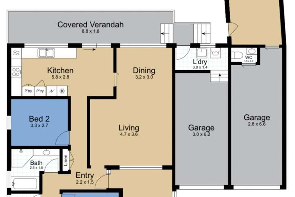 Floorplan of Homely house listing, 39 Huene Avenue, Halekulani NSW 2262