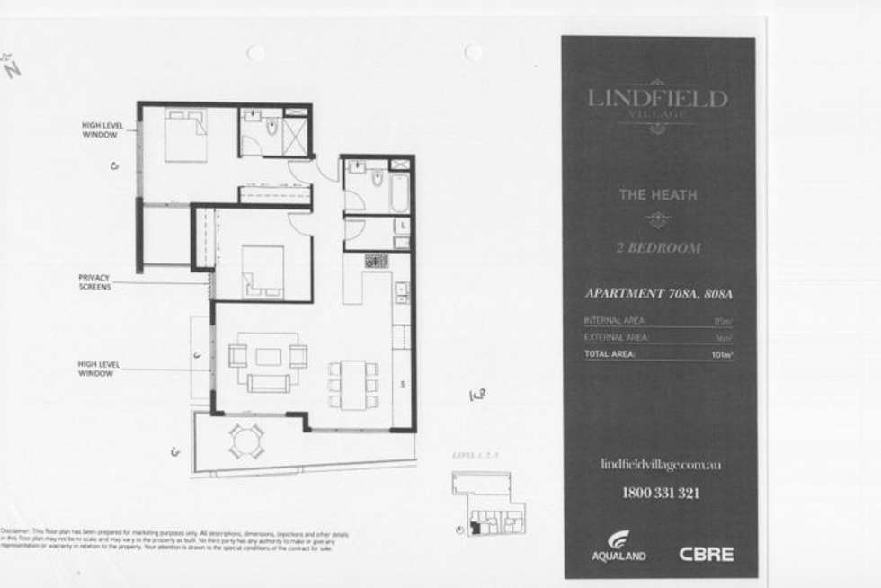 Floorplan of Homely apartment listing, 707 Lindfield Village/29 Lindfield Avenue, Lindfield NSW 2070