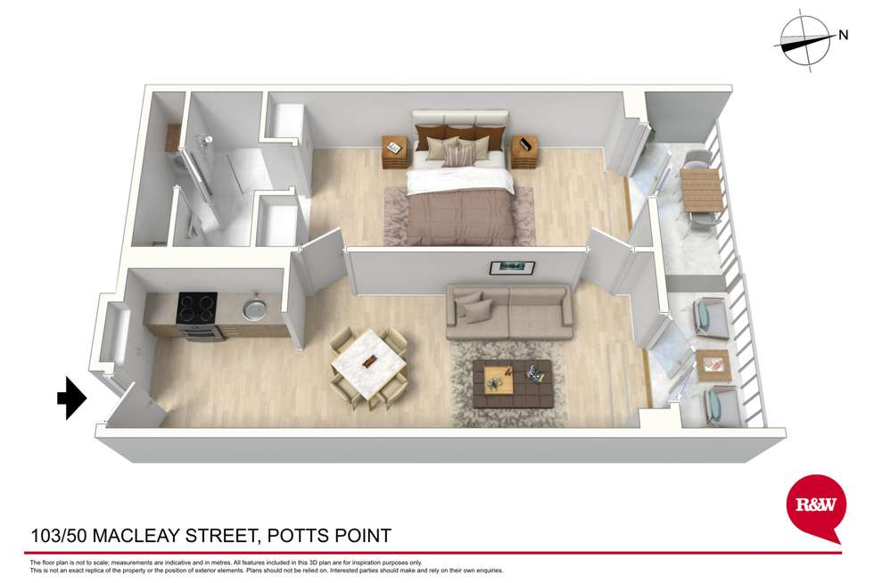 Floorplan of Homely apartment listing, 103/50 Macleay Street, Potts Point NSW 2011