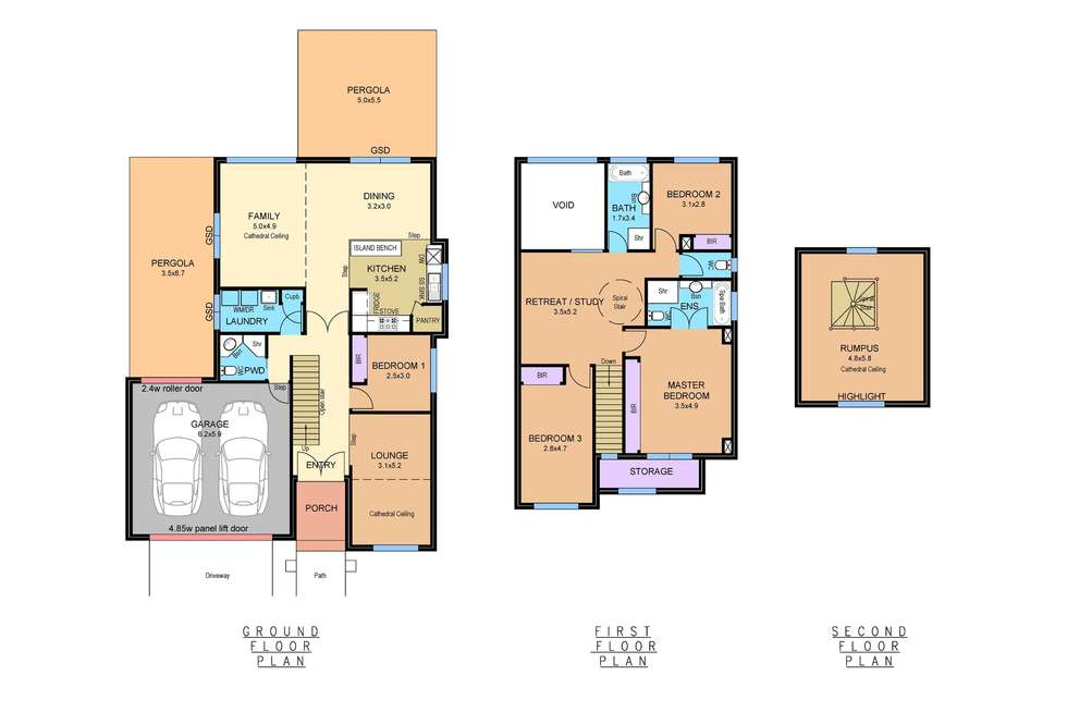 Floorplan of Homely house listing, 5 Mount Eccles Place, Caroline Springs VIC 3023