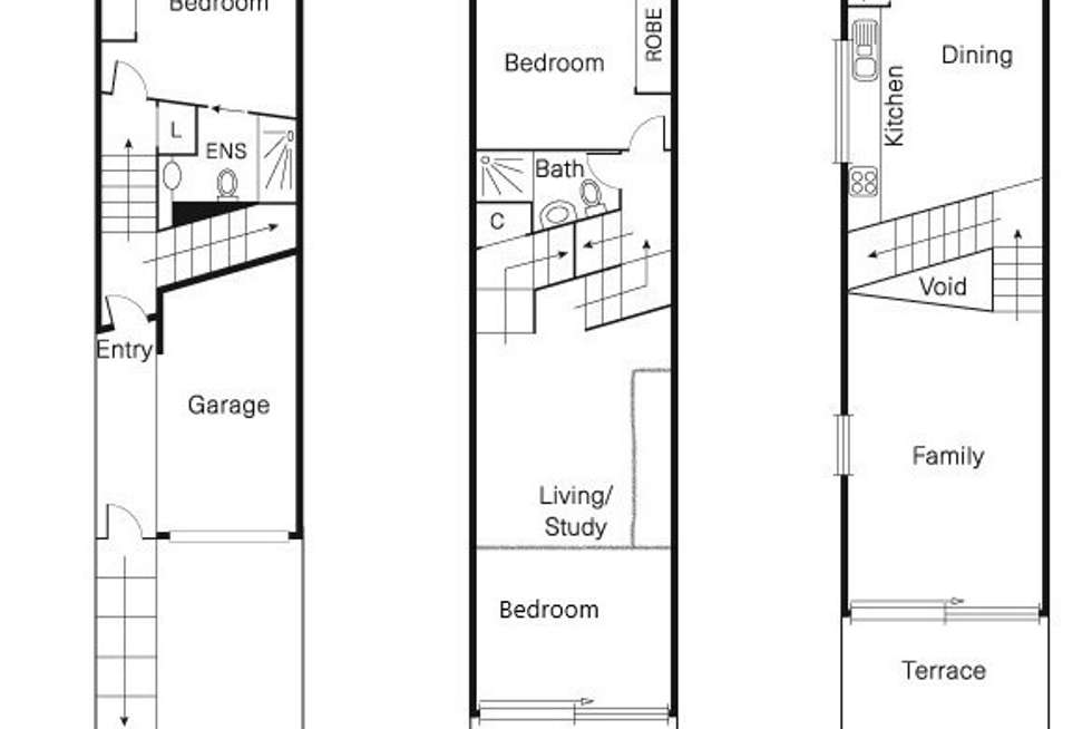 Floorplan of Homely townhouse listing, 3A Little Lesney Street, Richmond VIC 3121