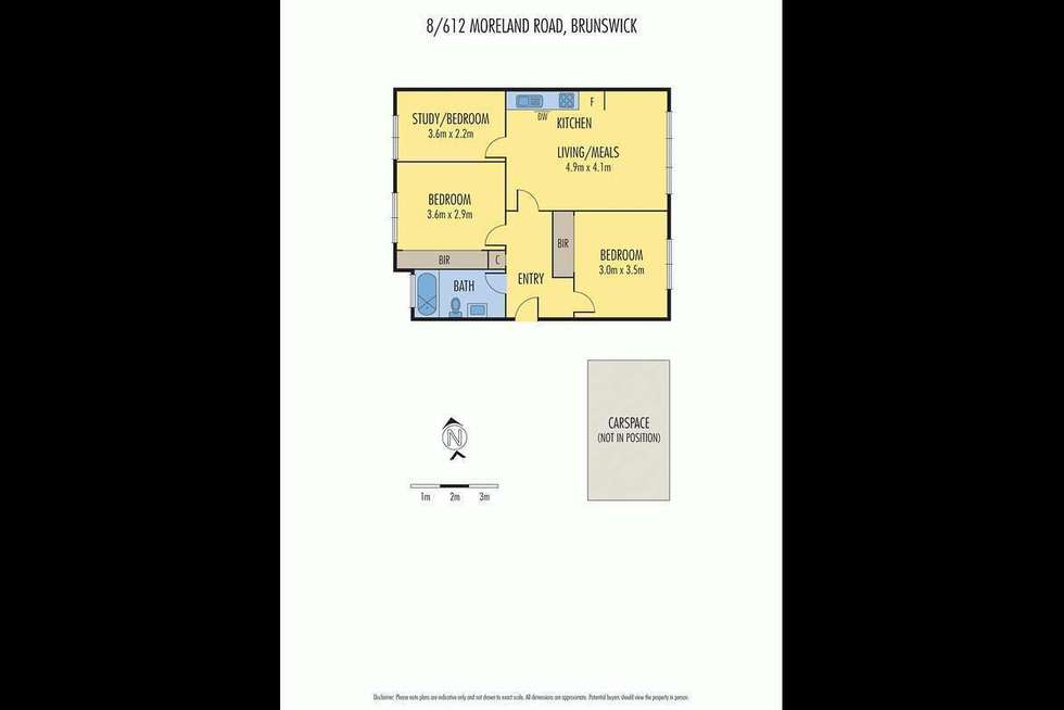 Floorplan of Homely apartment listing, 8/612 Moreland Road, Brunswick West VIC 3055