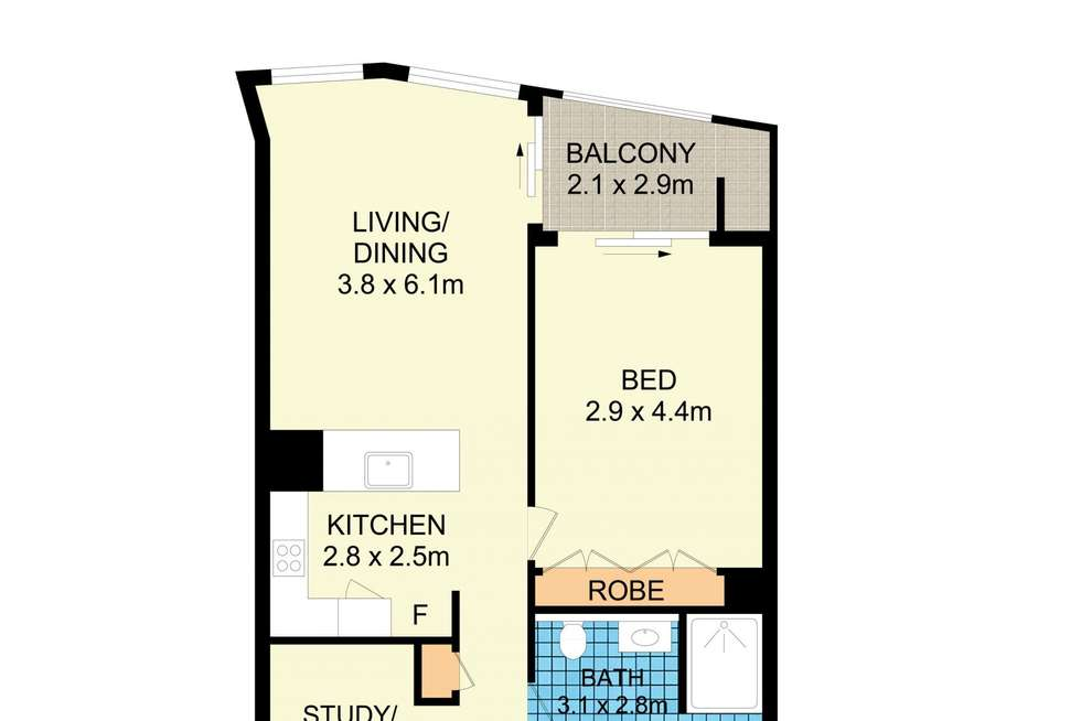 Floorplan of Homely apartment listing, 1006/18-20 Pelican Street, Surry Hills NSW 2010