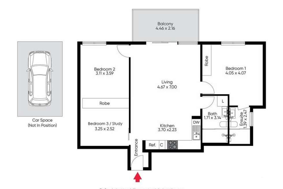 Floorplan of Homely unit listing, 407/7 Greeves St, St Kilda VIC 3182