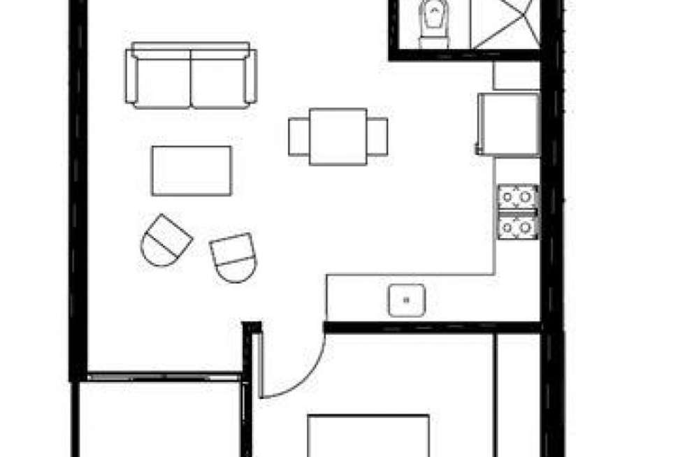 Floorplan of Homely apartment listing, 311/10-14 Hope Street, Brunswick VIC 3056