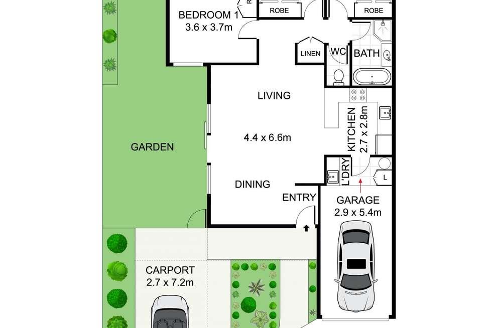 Floorplan of Homely villa listing, 1/12 Small Street, Putney NSW 2112