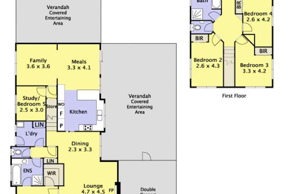 Floorplan of Homely house listing, 86 Bridgewater Way, Rowville VIC 3178