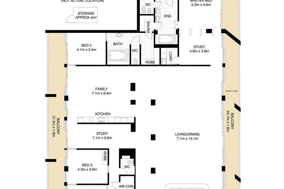 Floorplan of Homely apartment listing, 1601/227 Victoria Street, Darlinghurst NSW 2010