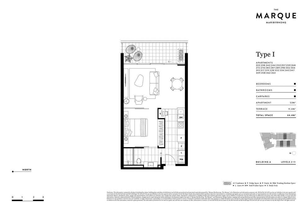 Floorplan of Homely apartment listing, 513/72 Wests Road, Maribyrnong VIC 3032