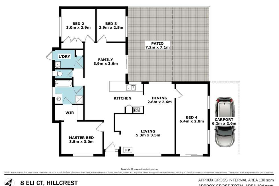 Floorplan of Homely house listing, 8 Eli Court, Hillcrest QLD 4118