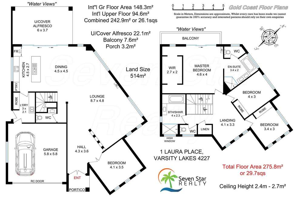 Floorplan of Homely house listing, 1 Laura Place, Varsity Lakes QLD 4227